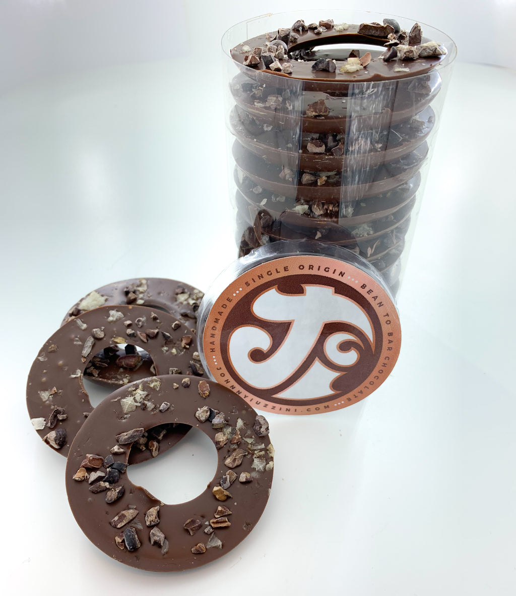 Cacao Nib & Smoked Sea Salt Dark Chocolate Rings