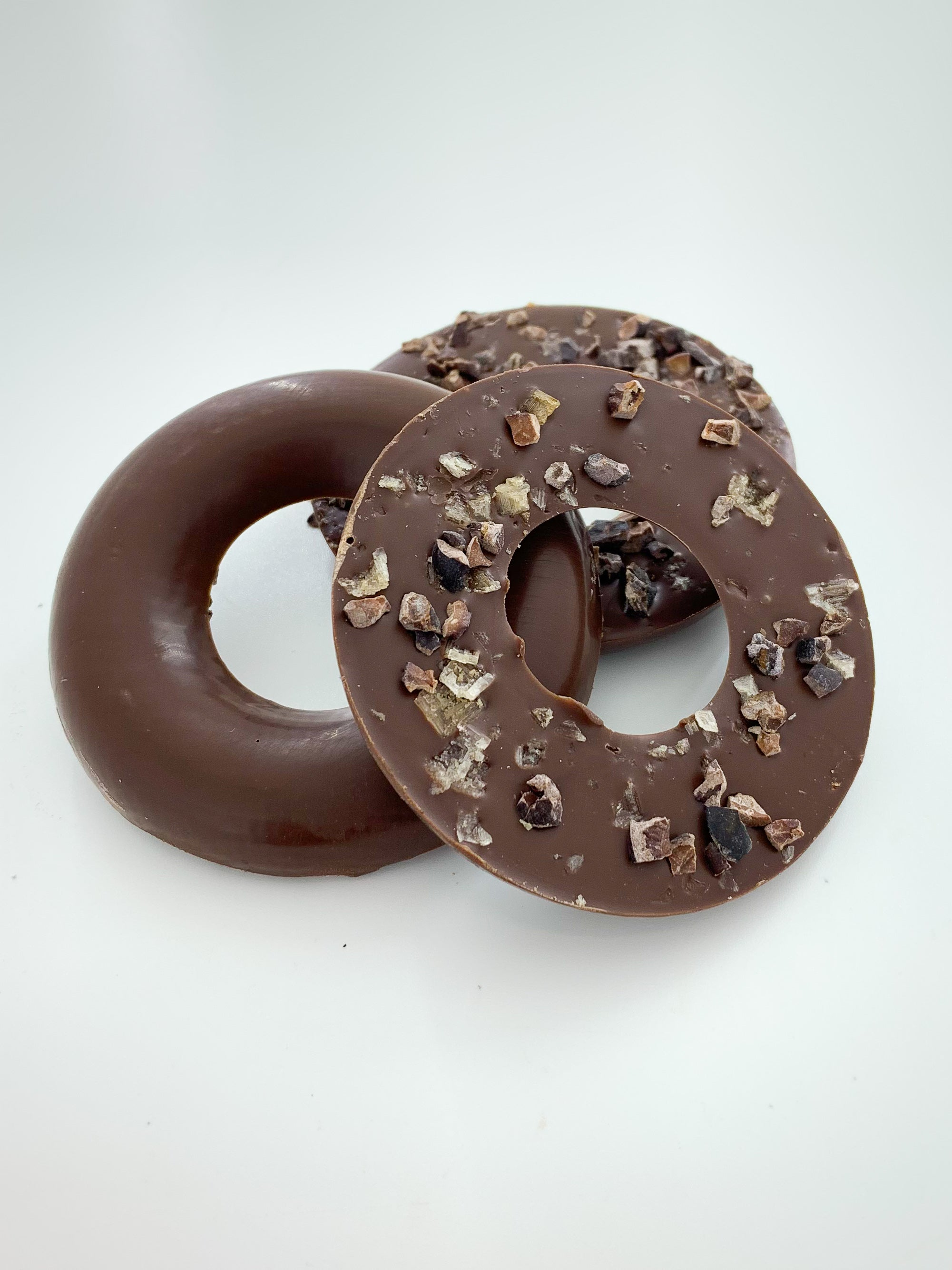 Cacao Nib & Smoked Sea Salt Milk Chocolate Rings