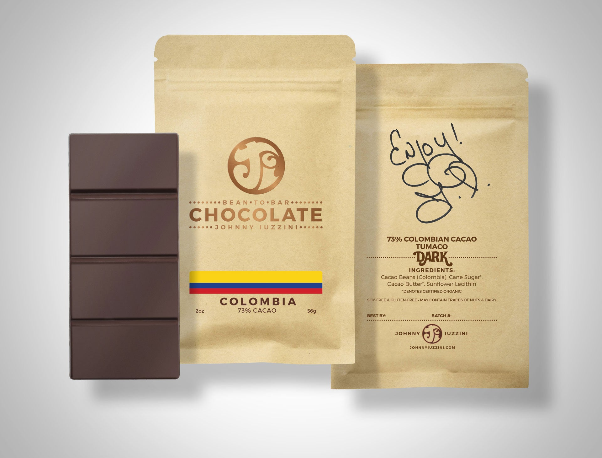 Colombia, Tumaco, 73% Cacao Dark Chocolate