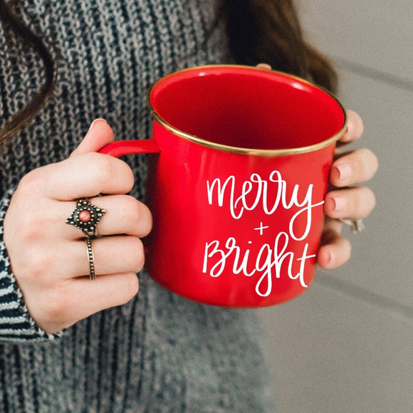 Sweet Water Decor - Merry and Bright Campfire Coffee Mug