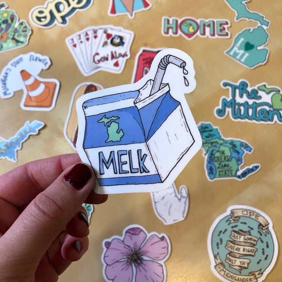 Big Moods - Melk - Michigan Sticker