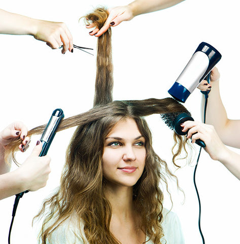Are you damaging your hair by overstyling it?