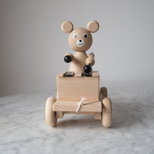 Henry - Pull Along Wooden Bear with Xylophone - Sarah & Bendrix
