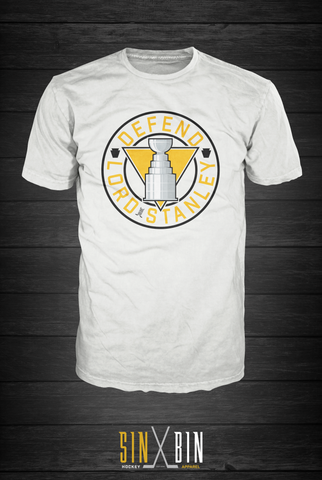 Defend Lord Stanley | White - Sin Bin Hockey Apparel