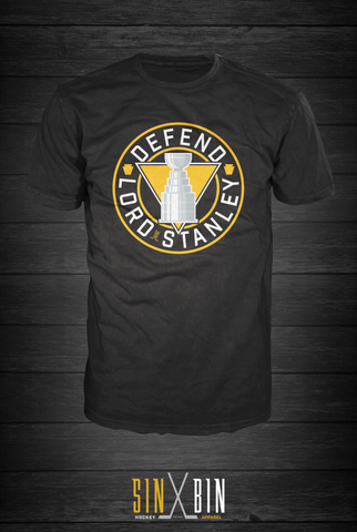 Defend Lord Stanley | Black - Sin Bin Hockey Apparel