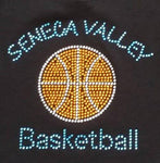 Seneca Valley Basketball Solid Rhinestone Design