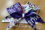 I'm All About that Base Bow (for Cheer) - GrandChampBows