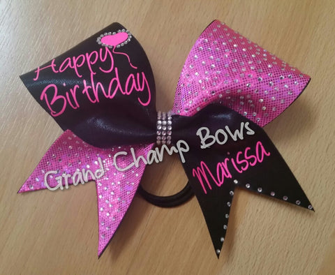 Happy Birthday Bow - GrandChampBows