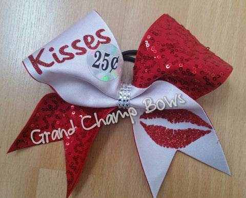 25 cents Kisses Bow - GrandChampBows