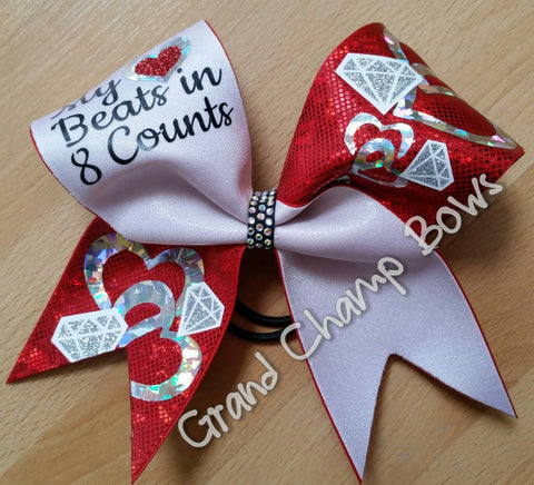 My Heart Beats in 8 Counts Bow - GrandChampBows