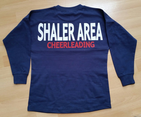 Shaler Area Cheerleading Spirit Jersey in Youth & Adult sizes - GrandChampBows - 1
