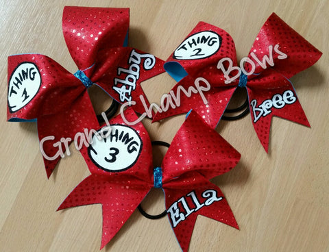 Thing 1, Thing 2, and Thing 3 Bows - GrandChampBows