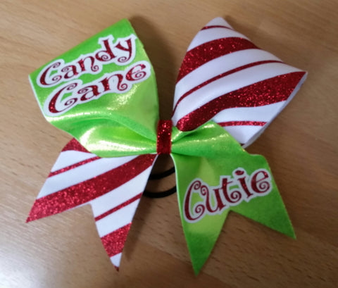 Candy Cane Cutie Bow