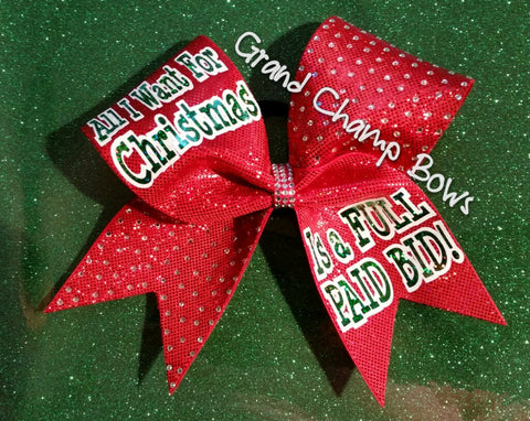 All I Want for Christmas Bow - GrandChampBows