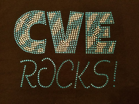 Seneca Valley CVE ROCKS! Solid Bling Rhinestone Design
