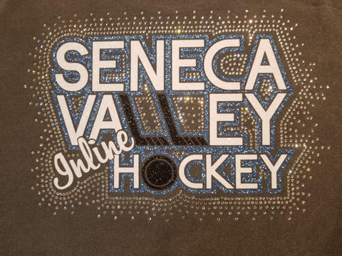 Seneca Valley Inline Hockey Spectacular Bling Rhinestone Design