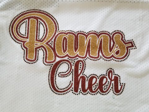 Highlands Rams Cheer Bling Rhinestone Design
