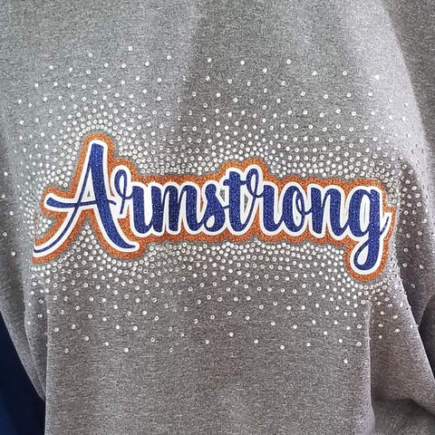 Armstrong Script Spectacular Bling Rhinestone Design