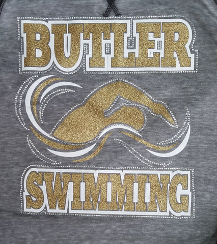 Butler Swimming Bling Rhinestone Design