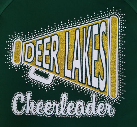 Deer Lakes Megaphone Glitter and Bling Rhinestone Design