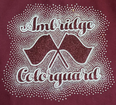 Ambridge Bridgers Colorguard Glitter and Rhinestone Design
