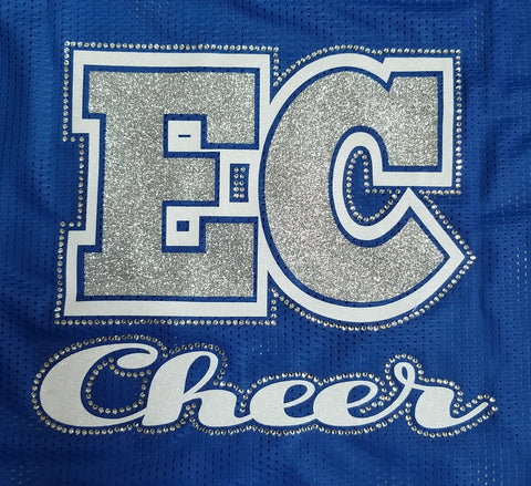Ellwood City Cheer Glitter & Rhinestone Design