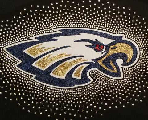 Eagles Mascot Spectacular Bling Rhinestone Design