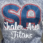 Shaler Area Titans SA Glitter and Rhinestone Design