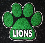 South Fayette Lions Glitter and Rhinestone Design