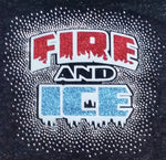 Fire and Ice Logo Spectacular Bling Rhinestone Design