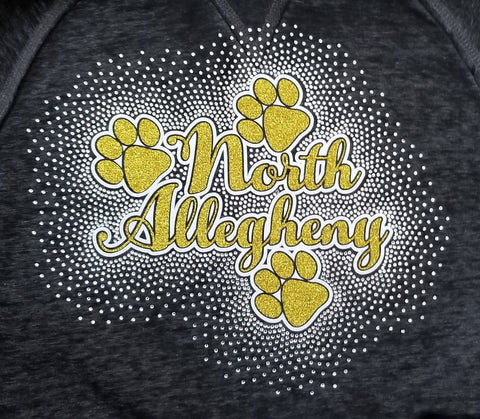 North Allegheny with Paws Spectacular Bling Rhinestone Design
