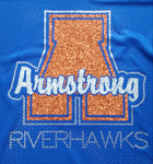 Armstrong Riverhawks A Glitter and Rhinestone Design