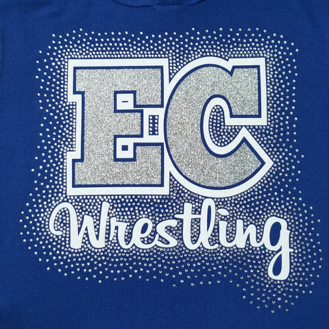 Ellwood City EC Wrestling Spectacular Bling Rhinestone Design