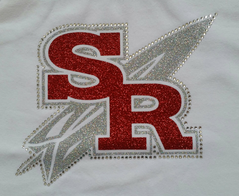 Slippery Rock Rockets Glitter & Rhinestone Design