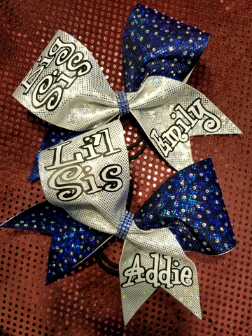 Big Sis/Lil Sis Bow Set Personalized