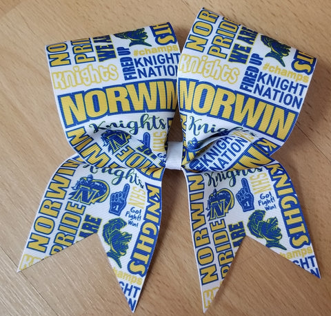 Norwin Knights Subway Tile Custom Cheer Bow