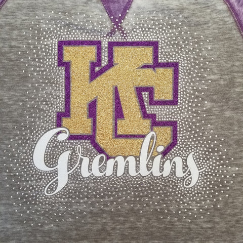 Karns City Gremlins Spectacular Bling Rhinestone Design