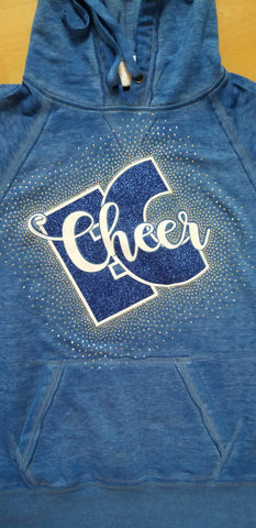 Ellwood City EC Cheer Spectacular Glitter and Rhinestone Design