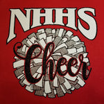 North Hills Indians NHHS Cheer Pom Pom Glitter and Rhinestone Design