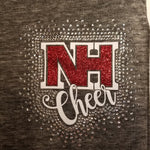 North Hills Indians NH Logo Cheer Spectacular Glitter and Rhinestone Design