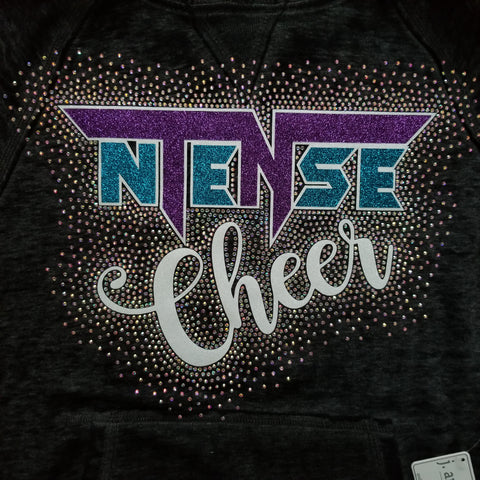 NTense Cheer Spectacular Bling Rhinestone Design