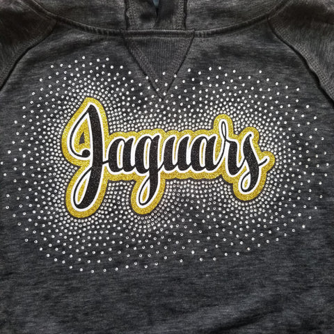 Thomas Jefferson Jaguars Spectacular Glitter and Rhinestone Design
