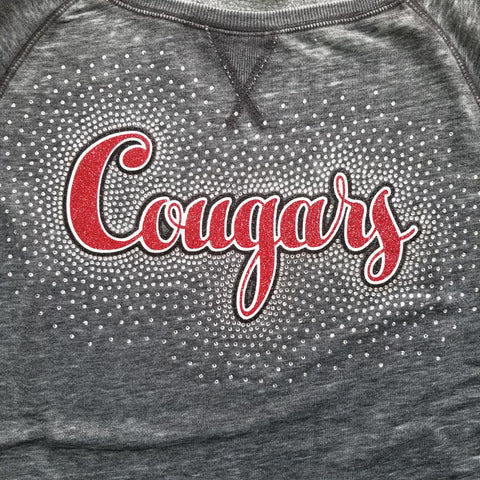 Charleroi Cougars Spectacular Glitter and Rhinestone Design