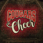 Charleroi Cougars Cheer Spectacular Bling Rhinestone Design