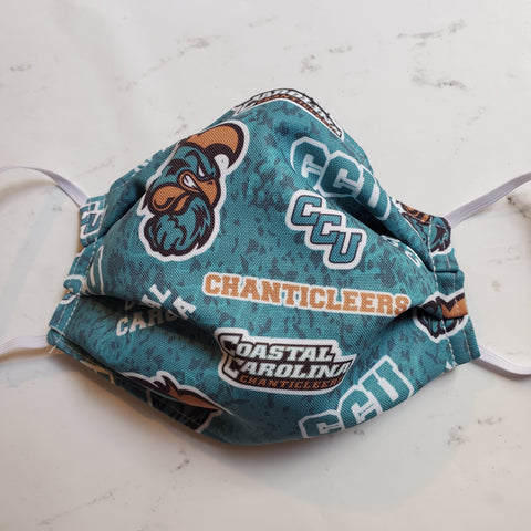 Coastal Carolina CCU Chanticleers Fabric Masks