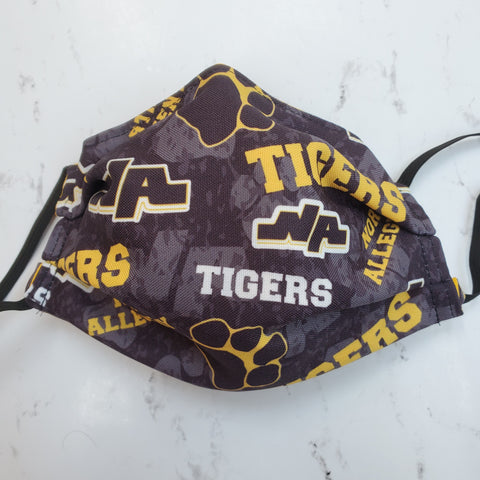 North Allegheny Tigers Black Logo Print Fabric Masks