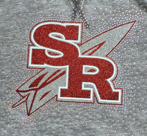Slippery Rock Rockets Spectacular Bling Rhinestone Design