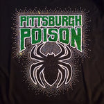Pittsburgh Poison Large Spider Rhinestone Design - CLICK TO SELECT SHIRT
