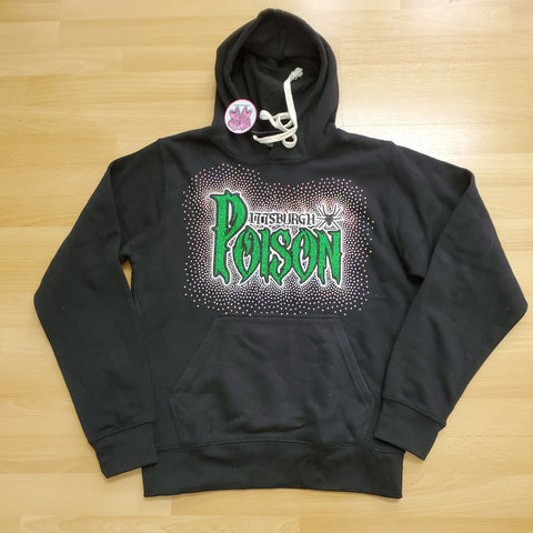 Discounted Sample for sale Pittsburgh Poison Spectacular Bling Zen Unisex Regular Hoodie size Adult Small