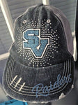 Seneca Valley Bling Logo Destructed Trucker Cap / Hat